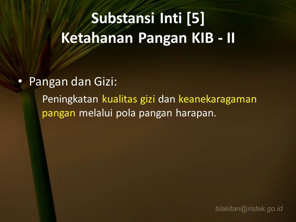Substansi Inti [5] Ketahanan Pangan KIB - II